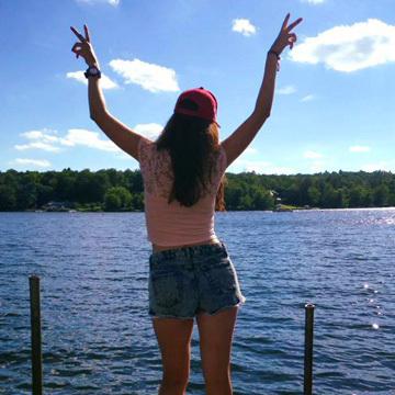 Girl at Camp in America