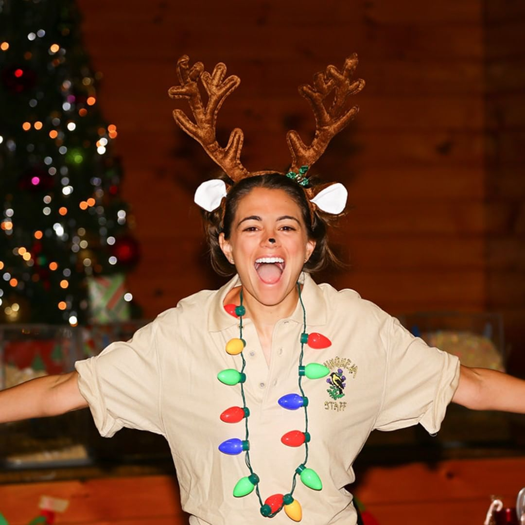 Camp Director Amanda celebrating Camp Christmas