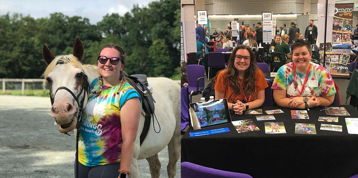 Jess Hiring at Summer Camp Job Fairs