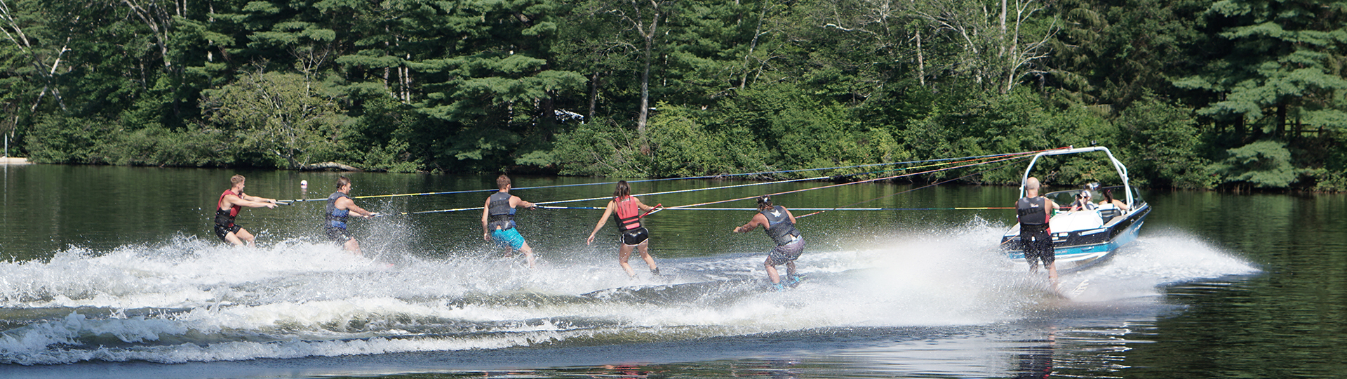 Sail, Drive Boats and tow along Waterskiiers and Wakerboarders!