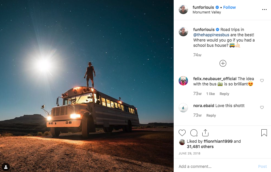 funforlouis travel Instagram account