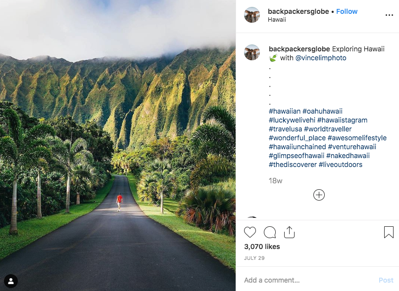 backpackersglobe travel Instagram account