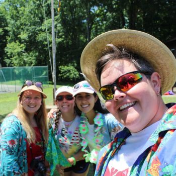 girl scout leaders at summer camp