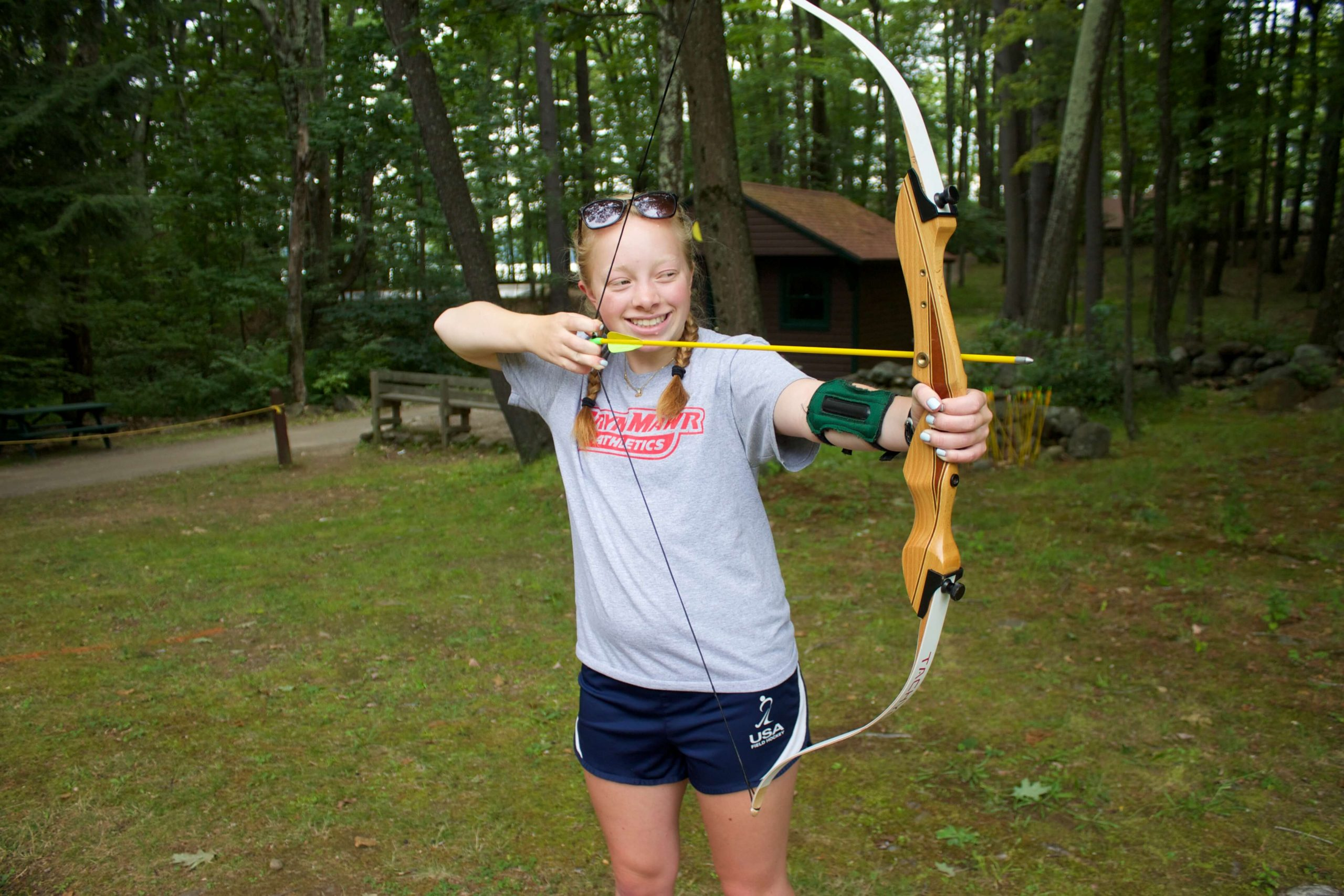 archery experience at a camp in america